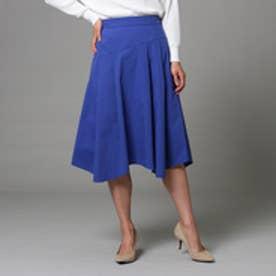 アンタイトル UNTITLED 【洗える】ネオストレッチタイプライタースカート (ブルー)