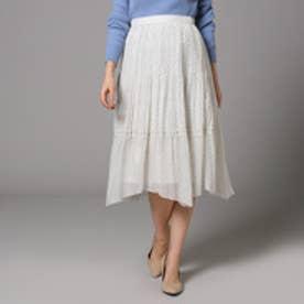 アンタイトル UNTITLED ギャザードットスカート (オフホワイト)