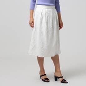 アンタイトル UNTITLED [L]【洗える】ペイズリージャカードスカート (オフホワイト)