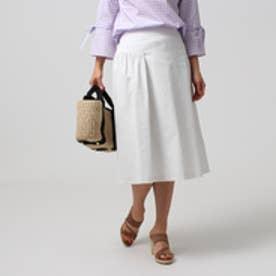 アンタイトル UNTITLED [L]【洗える】マリーニグリーンストレッチスカート (グレー系)