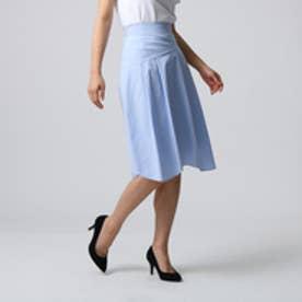 アンタイトル UNTITLED 【洗える】ネオストレッチタイプライタースカート (ライトブルー)