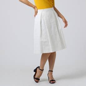 アンタイトル UNTITLED 【洗える】グログランボーダースカート (オフホワイト)