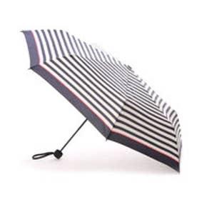 ダブリュピーシー w.p.c 折りたたみ傘 UNISEX STANDARD mini (ピンクラインボーダー)