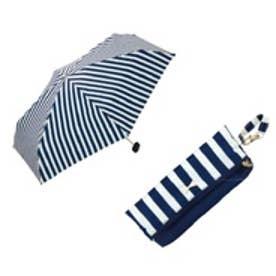 ダブリュピーシー w.p.c 雨傘 リボンチャームストライプ mini (NV)