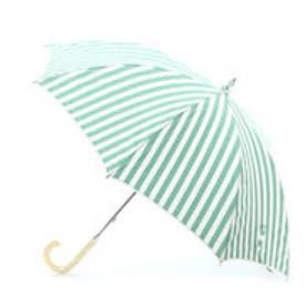 ダブリュピーシー w.p.c 日傘 ストライプアンドピコレース (グリーン)