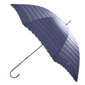 ダブリュピーシー w.p.c 日傘遮光オパールライクボーダーリボン刺繍 (ネイビー)