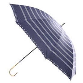 ダブリュピーシー w.p.c 日傘遮光ボーダーヒートカット (ネイビー)