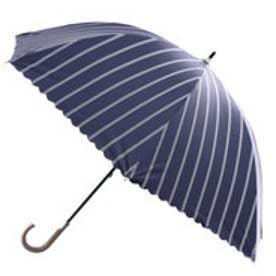 ダブリュピーシー w.p.c 日傘遮光バードケイジストライプ (ネイビー)