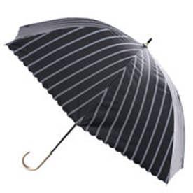 ダブリュピーシー w.p.c 日傘遮光バードケイジストライプ (ブラック)
