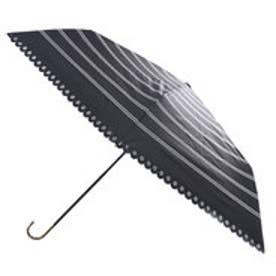 ダブリュピーシー w.p.c 日傘遮光ボーダーヒートカットmini (ブラック)