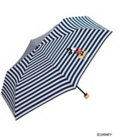 ダブリュピーシー w.p.c 折りたたみ傘 ミッキーマウススタンディングmini (ボーダー)