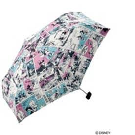 ダブリュピーシー w.p.c 折りたたみ傘 ディズニーコミックスmini (ピンク)