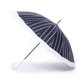 ダブリュピーシー w.p.c 雨傘 16本骨切り継ぎストライプ (ネイビー)