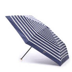 ダブリュピーシー w.p.c 日傘 晴雨兼用 遮光ロープボーダーmini (ネイビー)