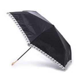 ダブリュピーシー w.p.c 日傘 晴雨兼用 遮光フラワースカラップmini (ブラック)