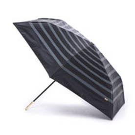 ダブリュピーシー w.p.c 日傘 晴雨兼用 遮光リボンボーダーmini (ブラック)