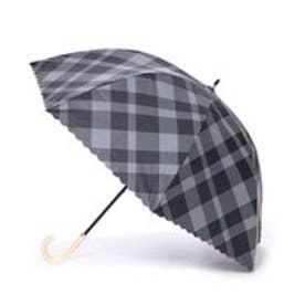 ダブリュピーシー w.p.c 日傘 晴雨兼用 遮光バードケージバイアスチェック (ブラック)