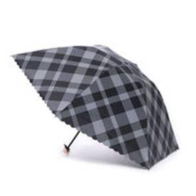 ダブリュピーシー w.p.c 日傘 晴雨兼用 遮光バードケージバイアスチェックmini (ブラック)