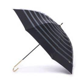ダブリュピーシー w.p.c 日傘 晴雨兼用 遮光リボンボーダー (ブラック)