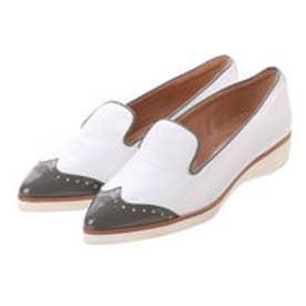 銀座ワシントン ワシントン靴店 FABIO RUSCONI 389-2298 プチメダリオンフラット (ホワイト)
