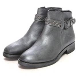 銀座ワシントン KHRIO 346-24000 スタッズ付ショートブーツ (ブラック)
