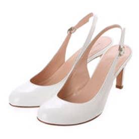 銀座ワシントン ワシントン靴店 LORENA PAGGI 389-61903 エナメルバックベルトパンプス (ホワイト)