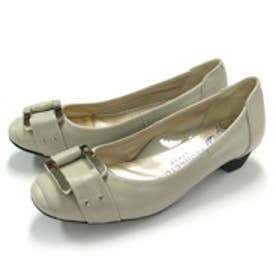 銀座ワシントン WASHINGTON【大きめサイズ】 Foot Happy 320-F23701L アウトドライ仕様のバックルデザインパンプス (アイスグレイ)