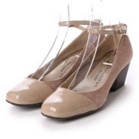 銀座ワシントン【大きめサイズ】 WASHINGTON Foot Happy 320-F25110L アンクルストラップパンプス (オーク)