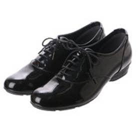 銀座ワシントン【大きめサイズ】  WASHINGTON Foot Happy 328-F82202L モールドソールのレースアップシューズ (ブラックエナメル)