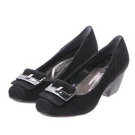 銀座ワシントン WASHINGTON Foot Happy 320-F25109A バックル付きちんとパンプス (ブラック)
