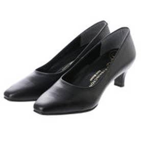 銀座ワシントン WASHINGTON Foot Happy 850-F55120 プレーンパンプス2E/5cmヒール (ブラック)