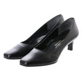 銀座ワシントン WASHINGTON Foot Happy 850-F55130 プレーンパンプス3E/5cmヒール (ブラック)