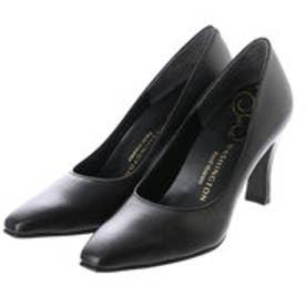 銀座ワシントン WASHINGTON Foot Happy 850-F58120 プレーンパンプス2E/8cmヒール (ブラック)