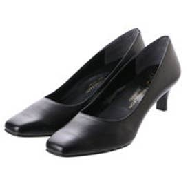 銀座ワシントン WASHINGTON Foot Happy 850-F55130L プレーンパンプス3E/5cmヒール (ブラック)