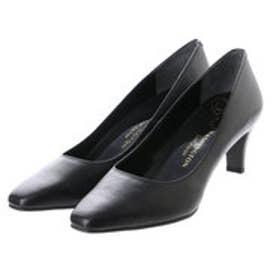銀座ワシントン WASHINGTON Foot Happy 850-F56120L プレーンパンプス2E/6cmヒール (ブラック)