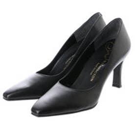 銀座ワシントン WASHINGTON Foot Happy 850-F58120L プレーンパンプス2E/8cmヒール (ブラック)