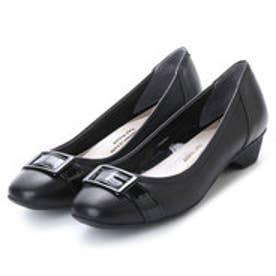 ワシントンフットハッピー WASHINGTON Foot Happy 320-F23207L 甲ベルトのきちんとパンプス (ブラック)