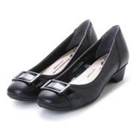 ワシントンフットハッピー WASHINGTON Foot Happy 320-F23207 甲ベルトのきちんとパンプス (ブラック)
