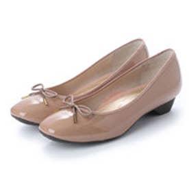 ワシントンフットハッピー 【大きめサイズ】WASHINGTON Foot Happy 320-F23703L 晴雨兼用バレエパンプス (ピンクベージュ)