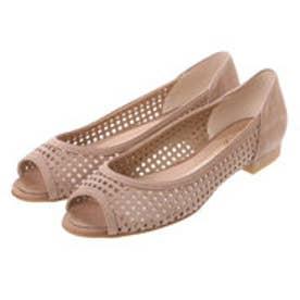 銀座ワシントン ワシントン靴店 WASHINGTON 323-92210 パンチングレザーの涼やかフラットパンプス (オーク)
