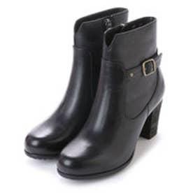 銀座ワシントン 853-46401太ヒールのショート丈ブーツ (ブラック)