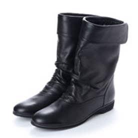 銀座ワシントン 【大きめサイズ】426-9051L 軽量ミドル丈ショートブーツ (ブラック)