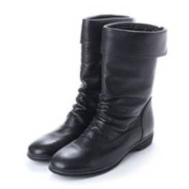 銀座ワシントン 426-9051 軽量ミドル丈ショートブーツ (ブラック)