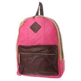 キュービック コア CUBIC CORE 合皮カラーコンビリュック (ピンク)