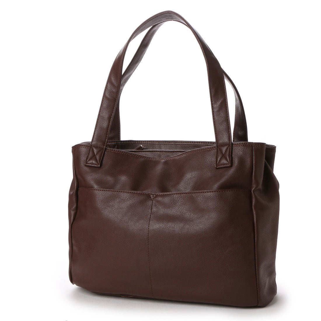 【SALE 8%OFF】ラナサックス Rana Sacs Rana Sacs A4対応2層式合皮トートバッグ (コゲチャ) レディース