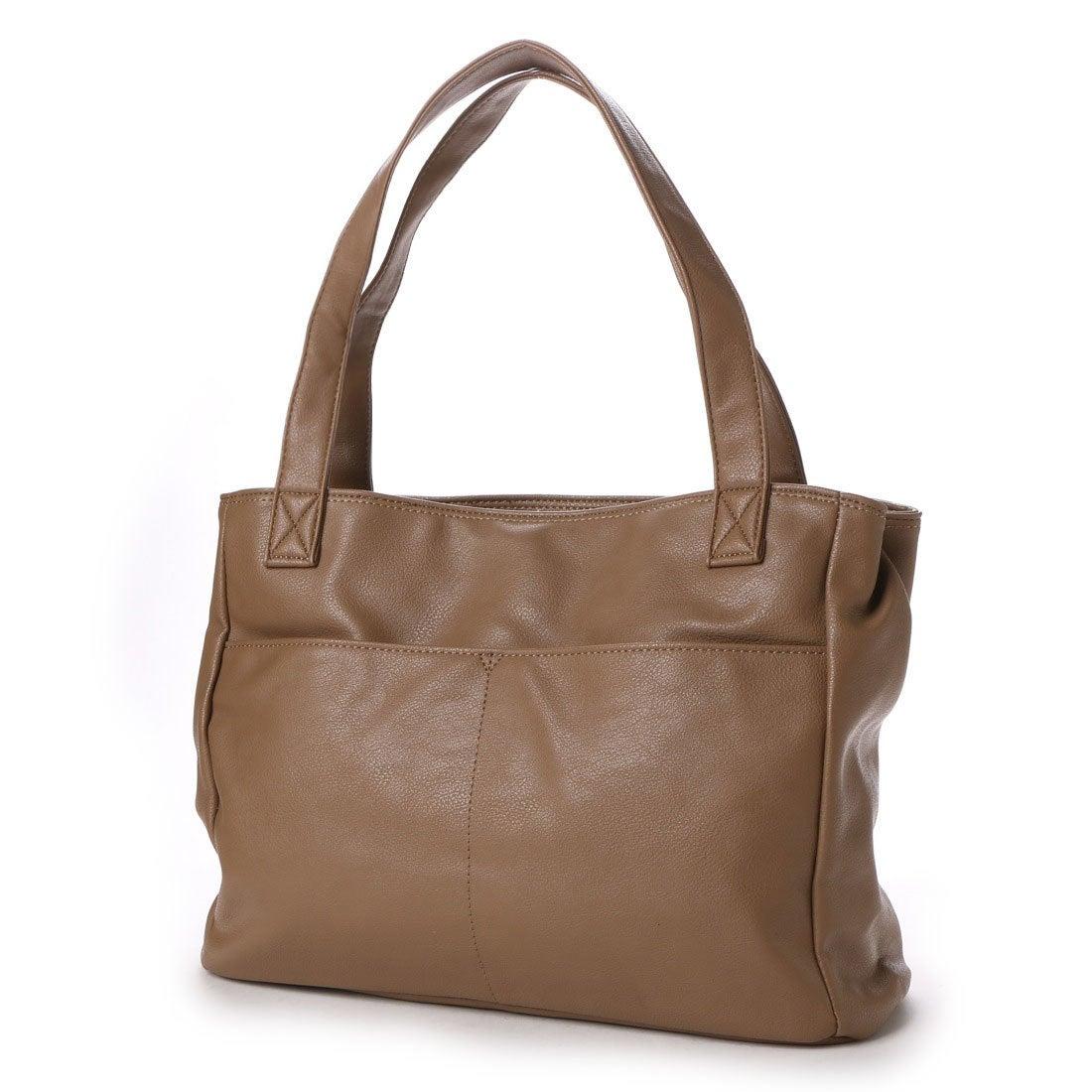 【SALE 8%OFF】ラナサックス Rana Sacs Rana Sacs A4対応2層式合皮トートバッグ (チャ) レディース