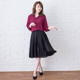 ユメテンボウ 夢展望 選べる3丈プリーツスカート (ブラック)