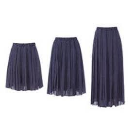 ユメテンボウ 夢展望 選べる3丈プリーツスカート (ドット柄ネイビー)