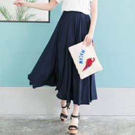 ユメテンボウ 夢展望 サーキュラーマキシパンツ&スカート (ネイビースカート)
