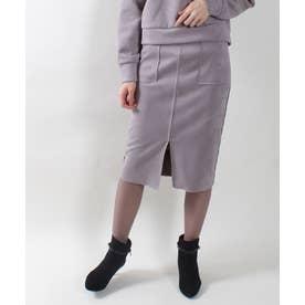 フェイクスエード両ポケタイトスカート (チャコールグレー)